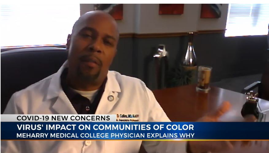 Meharry's Dr. Millard D. Collins Highlights COVID-19's Impact on People of Color